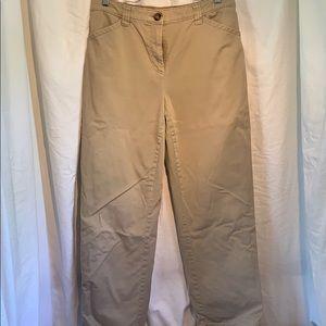 LL Bean lined khaki pants vintage